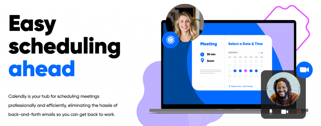 This image shows how easy it is to schedule meetings using Calendly.